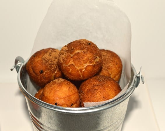 Gluten and Dairy Free Cinnamon Donut Holes with Apple Sauce
