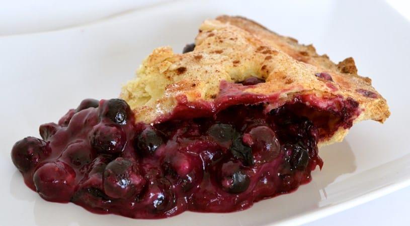 Gluten and Dairy Free Blueberry Pie