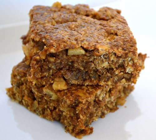 Gluten and Dairy Free Apple and Prune Flapjacks