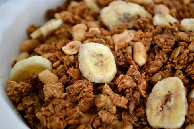 Gluten and Dairy Free Banana and Peanut Granola