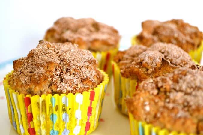 Gluten and Dairy Free Banana Cinnamon Muffins