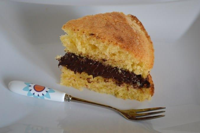 Gluten and Dairy Free Vanilla Cake with Chocolate cream