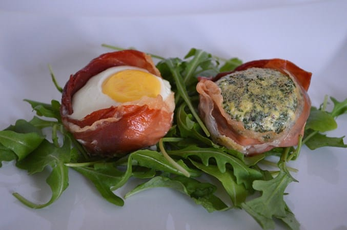 Gluten and Dairy Free Ham and Eggs Baskets