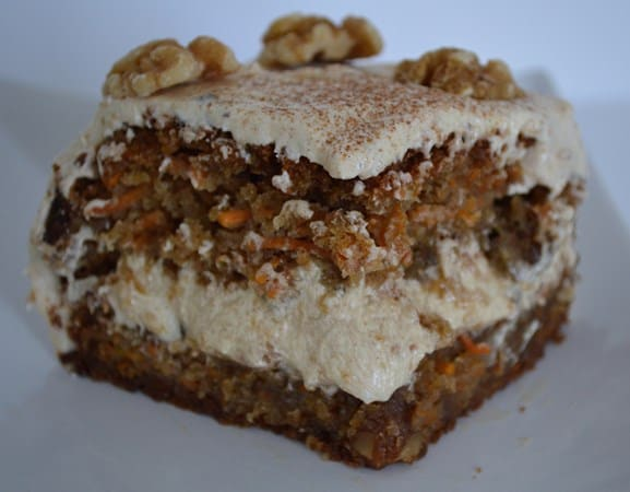 Gluten and Dairy Free Carrot and Walnut Cake with Cinnamon Frosting