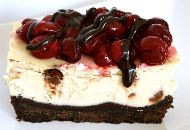 Gluten and dairy Free Cherry Choc Chip Oreo Style Cheesecake