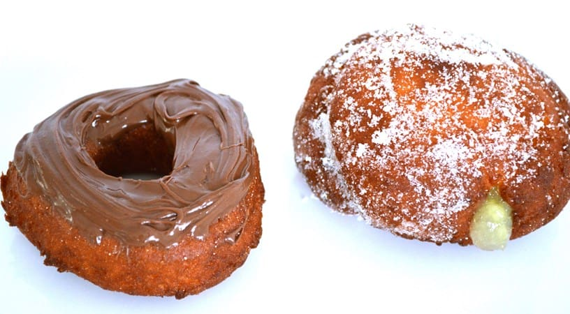 Gluten and Dairy Free Apple Filled or Chocolate Topped Breakfast Donuts