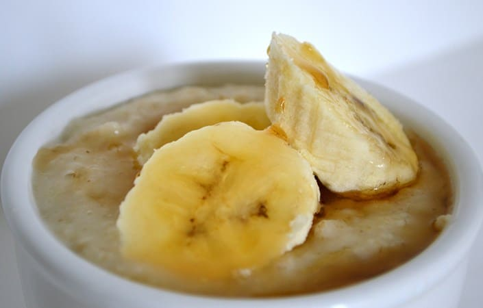 Gluten and Dairy Free Banana and Maple Syrup Porridge