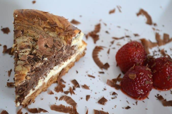 Gluten and Dairy Free Chocolate Marble Cheesecake