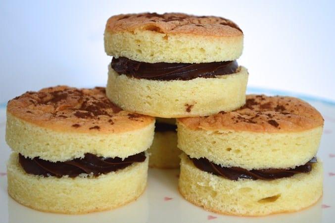 Gluten and Dairy Free Mini Victoria Sandwiches with Chocolate Cream
