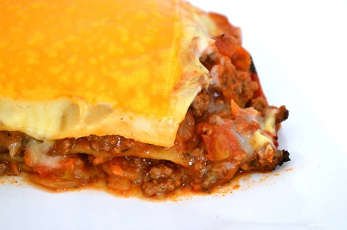 Gluten and Dairy Free Lasagne