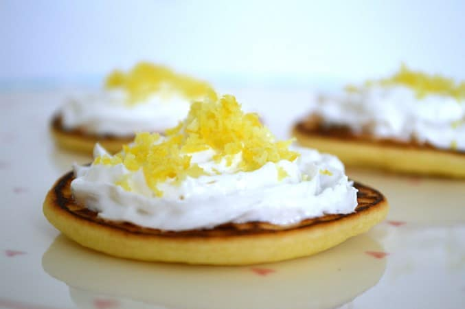 Gluten and Dairy Free Lemon Cream Pancakes
