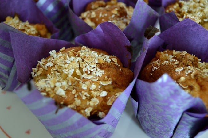 Gluten and Dairy Free Apple Muffins with Oat Topping