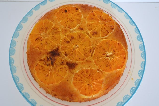 Gluten and Dairy Free Sticky Spiced Orange Polenta Cake