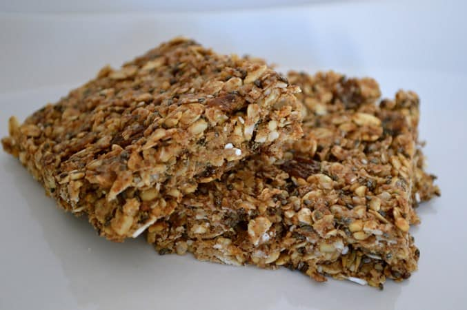 Gluten and Dairy Free Chia and Peanut Breakfast Bars