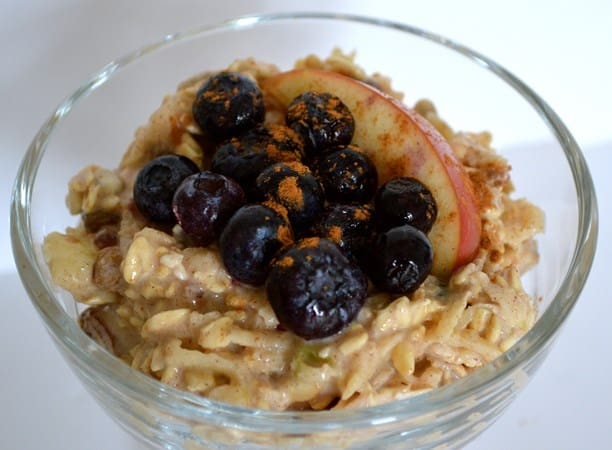 Gluten and Dairy Free Apple and Blueberry Bircher