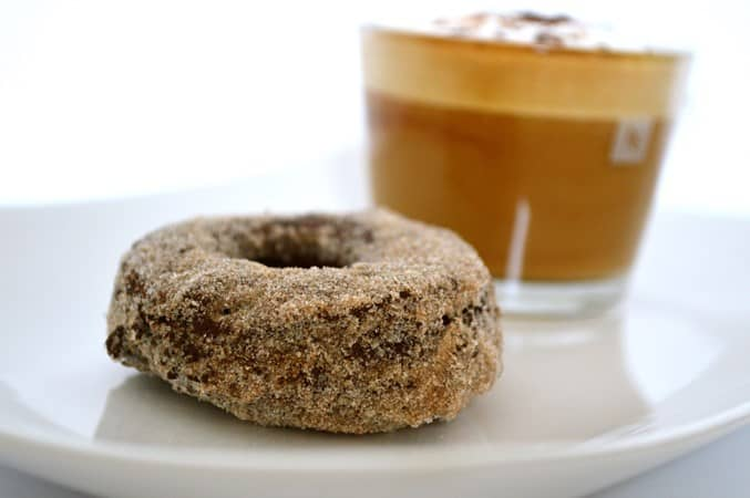 Gluten and Dairy Free Chocolate Donuts with Cinnamon Sugar
