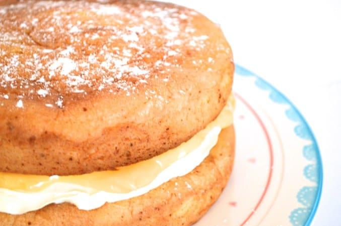 Gluten and Dairy Free Lemon Sponge Cake