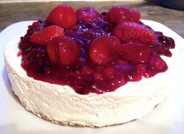 Dairy and Gluten Free Summer Fruit Cheesecake
