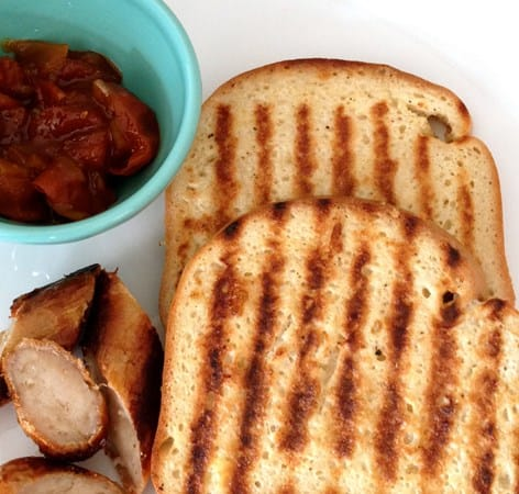 Gluten & Dairy Free French Toast with Sausage and Tomato Chutney