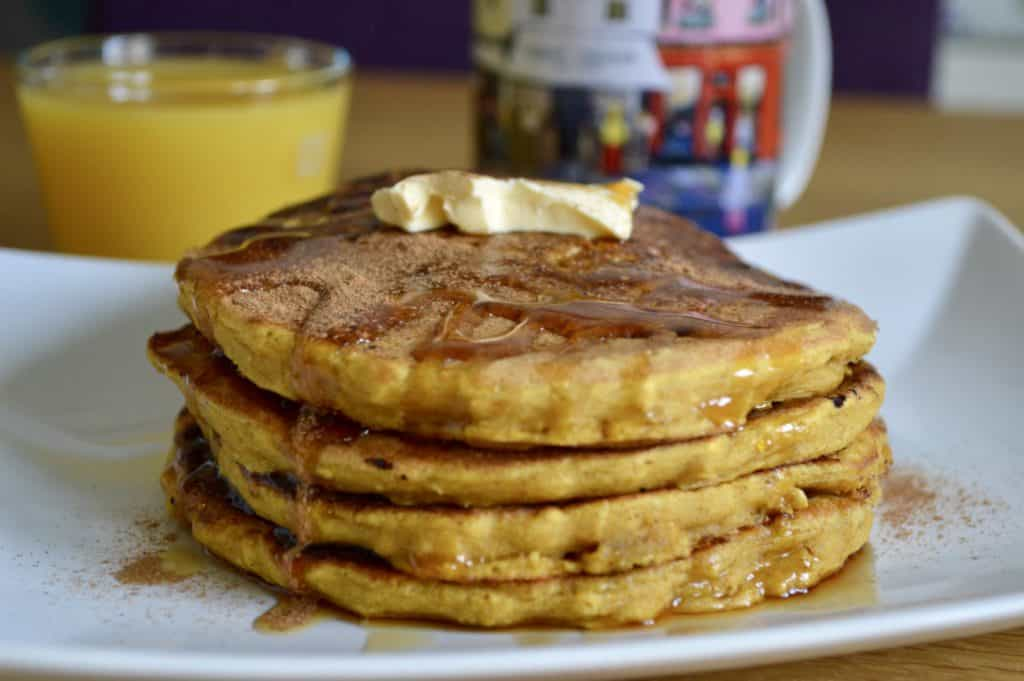Gluten and Dairy Free Spiced Pumpkin and Oat Pancakes