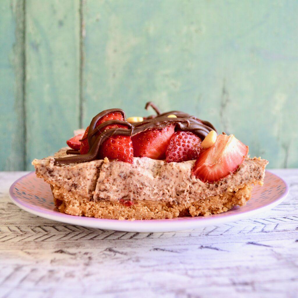 strawberry choc chip cheesecake