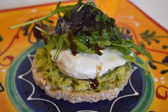 Gluten and Dairy Free Avocado Rice Cakes