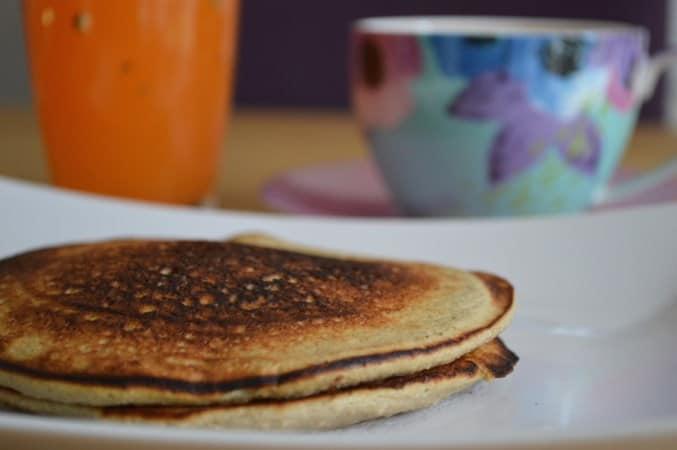 Healthy Three Ingredient GF DF Banana Pancakes