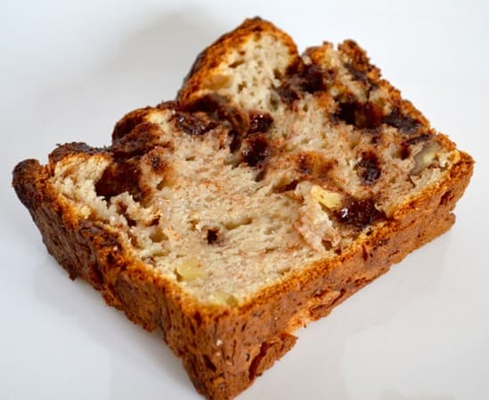 Gluten and Dairy Free Walnut Choc Chip Banana Bread