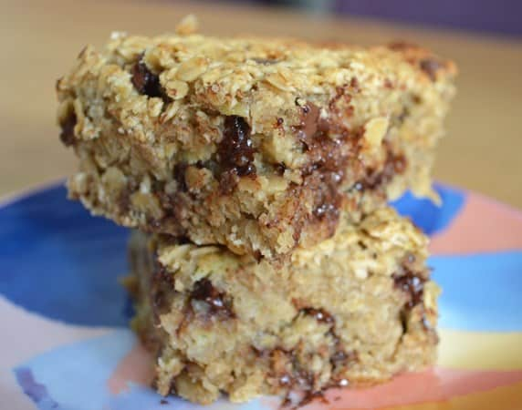 Gluten and Dairy Free Chocolate and Pear Flapjacks