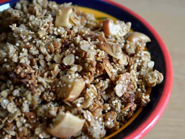 Gluten and Dairy Free Apple and Cinnamon Quinoa Breakfast Cereal