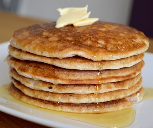 Gluten and Dairy Free Apple and Maple Pancakes