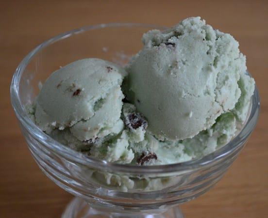 Gluten and Dairy Free Mint Choc Chip Ice-Cream