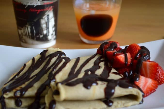 Gluten and Dairy Free Strawberry and Chocolate Crepes