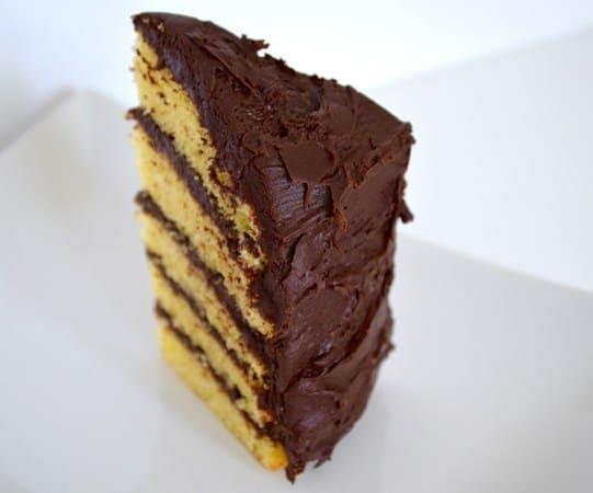 Gluten and Dairy Free Layered Chocolate and Vanilla Cake