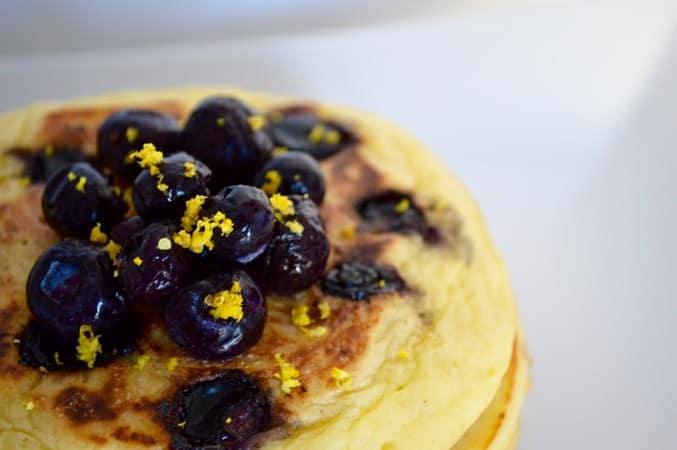 Gluten and Dairy Free Blueberry & Lemon Pancakes