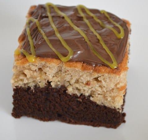 Gluten and Dairy Free Chocolate and Banana Layer Cake