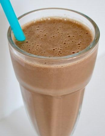 Gluten and Dairy Free Chocolate, Banana and Peanut Butter Milkshake