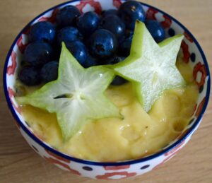 Gluten and Dairy Free Pineapple & Passion Fruit Pudding