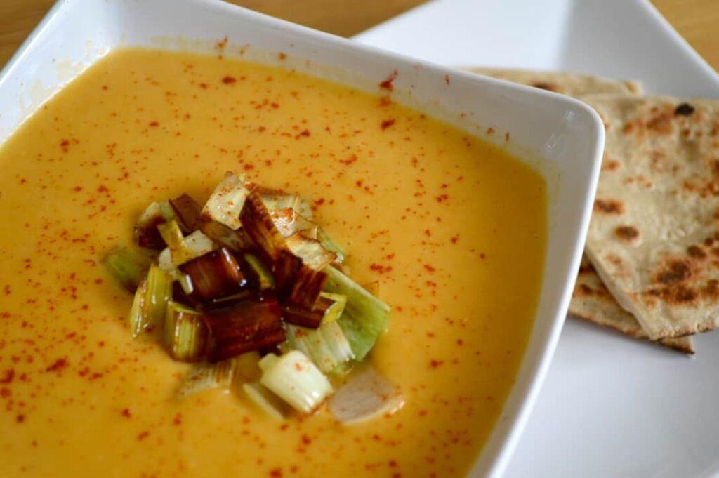 Gluten and Dairy Free Leek & Sweet Potato Soup