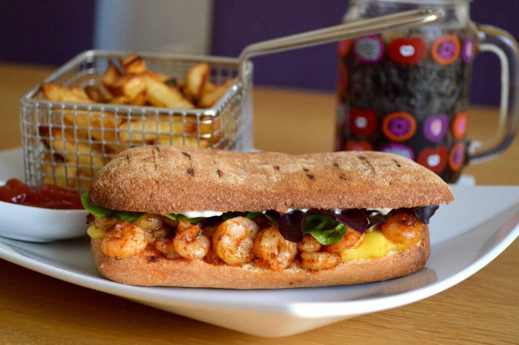 hot prawn sandwich