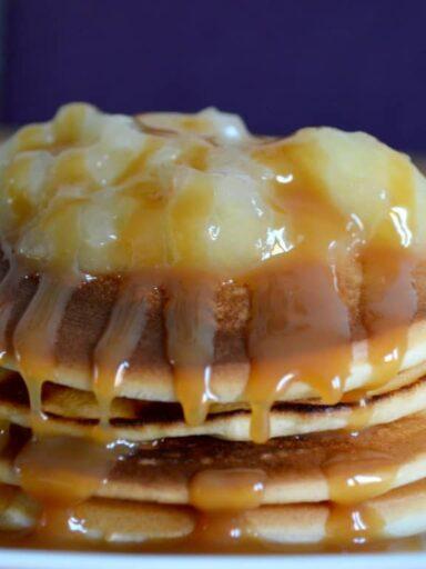 toffee apple pancakes