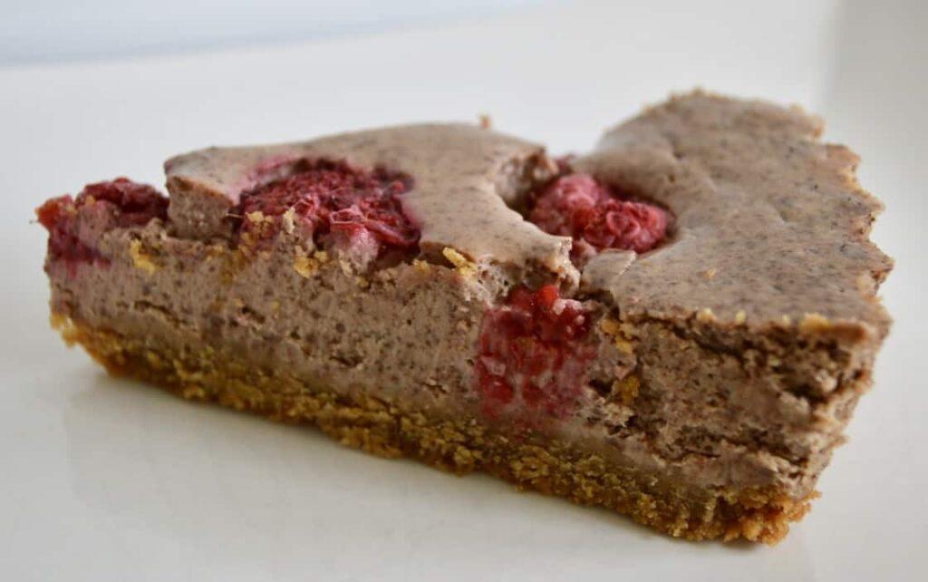 Gluten and Dairy Free Dark Chocolate & Raspberry Cheesecake