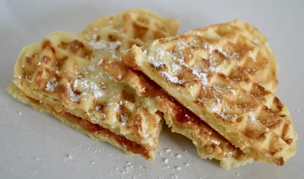 Gluten and Dairy Free Peanut Butter & Jelly Waffle Sandwiches