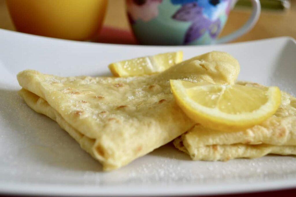 lemon sugar crepes