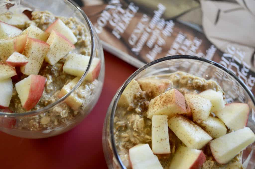 Gingerbread and Apple Overnight Oats