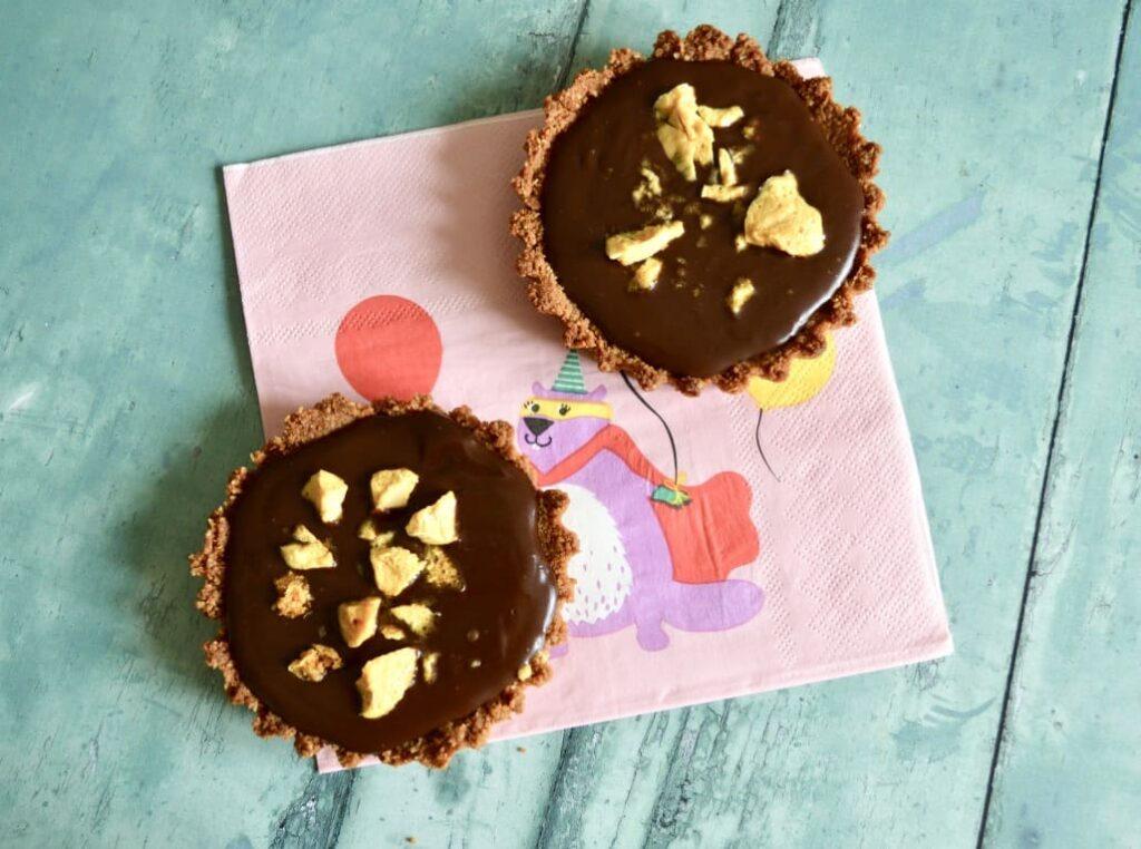 Gluten and Dairy Free Chocolate Honeycomb Tarts