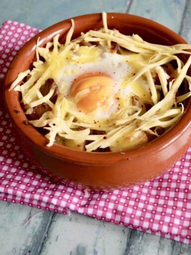 Cheese, Bacon & Egg Hash