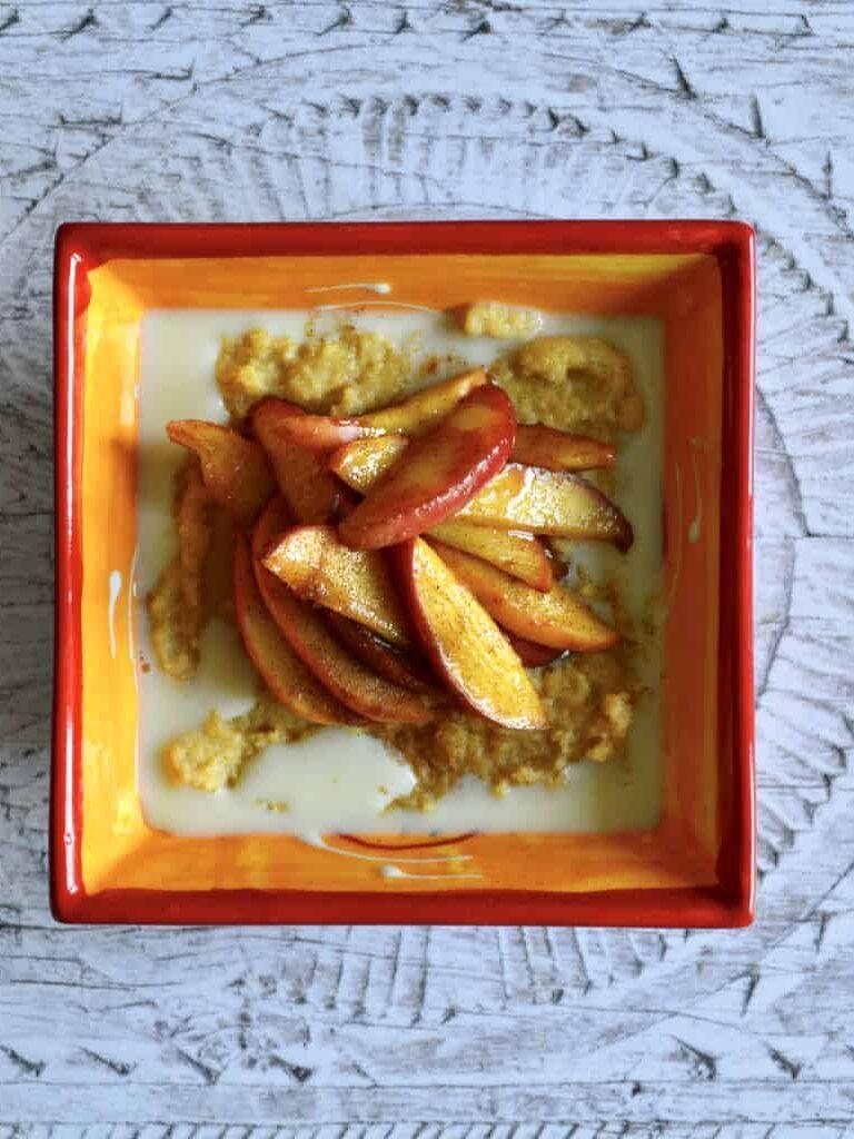 apple polenta