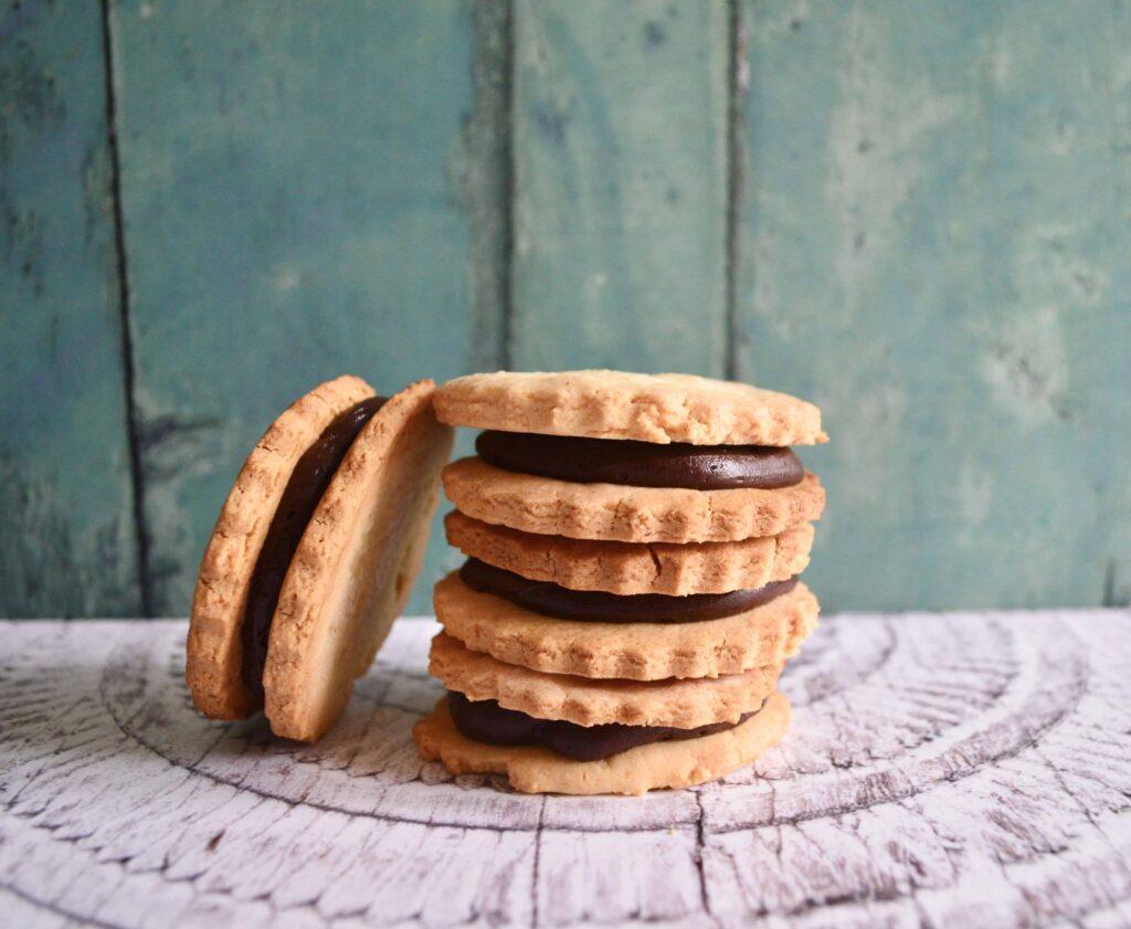 Gluten and Dairy Free Chocolate & Vanilla Sandwich Cookies