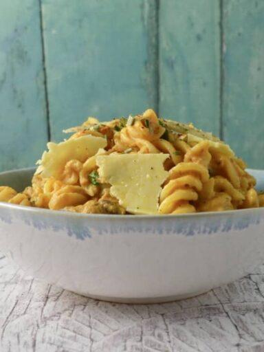 pumpkin pancetta pasta